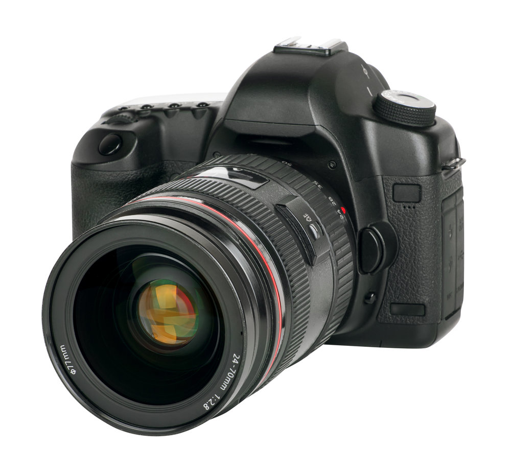 An example of a common and high quality camera with interchangeable lenses.