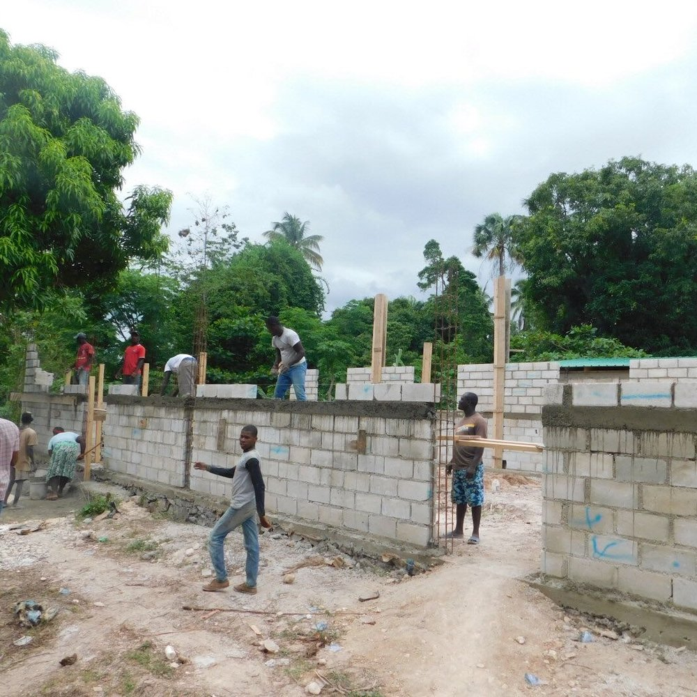 Funds donated to build a church for the new believers in Jacmel.