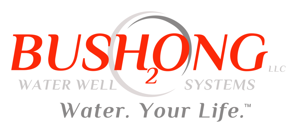 Logo - Bushong Water Well Systems.  Water.  Your Life.