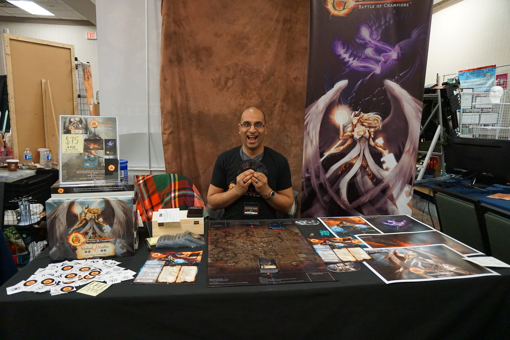 Our booth at GenreCon2018