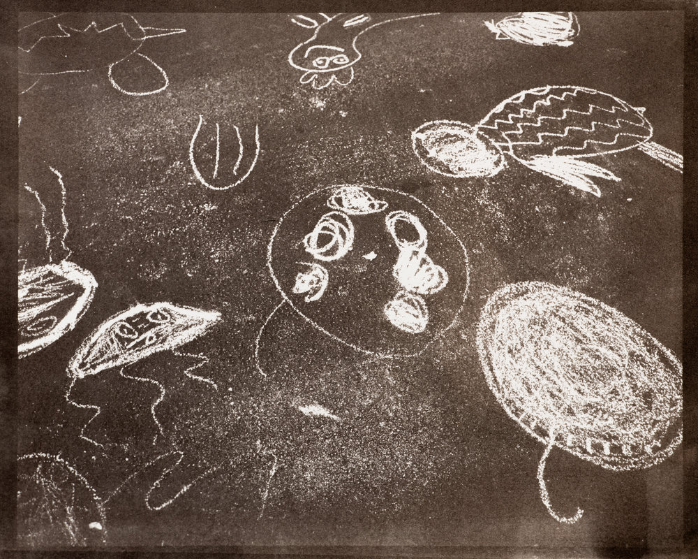 Sea Creatures (Sidewalk Chalk)