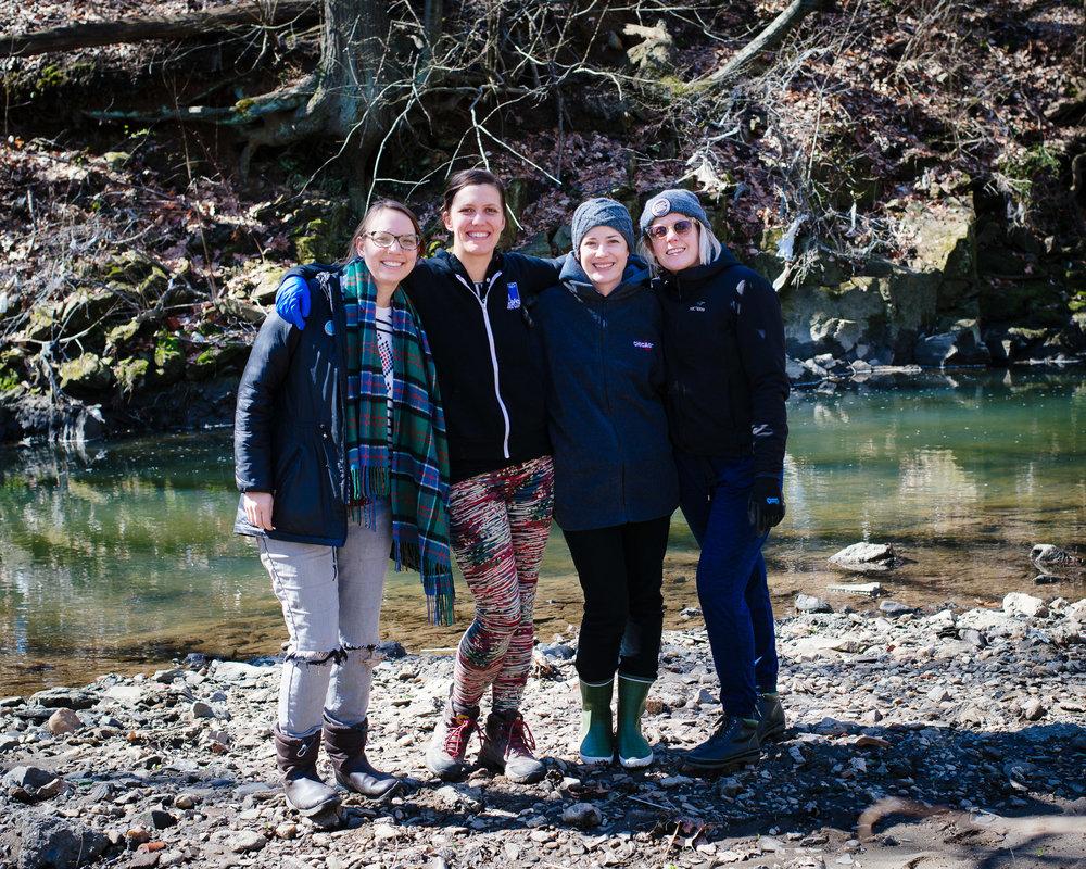 Left to right: Andrea Poulsen (me), Candice Jeffries, Bridgette Bussey Matison, and Allison Eskridge