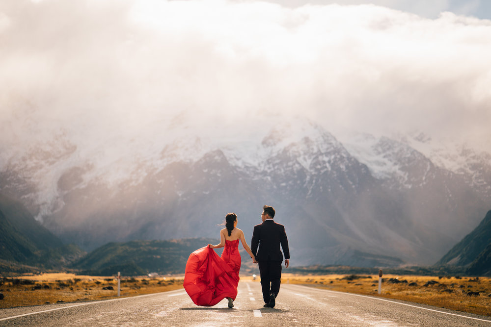 Wen Yao & Adeline Pre Wedding Photography In New Zealand.