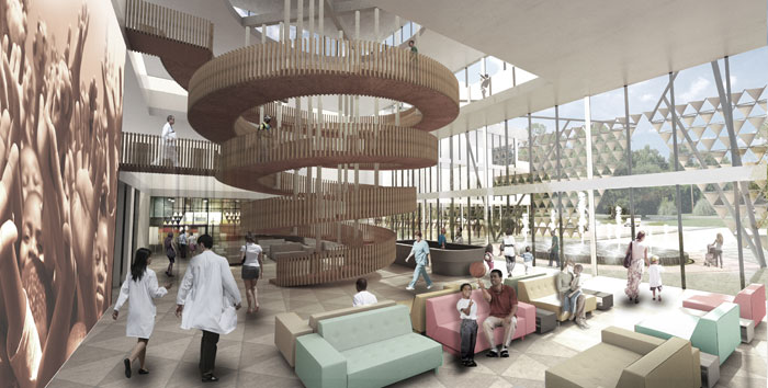 3 of 3 - Pediatric Cancer Centre, Adjaye Associates