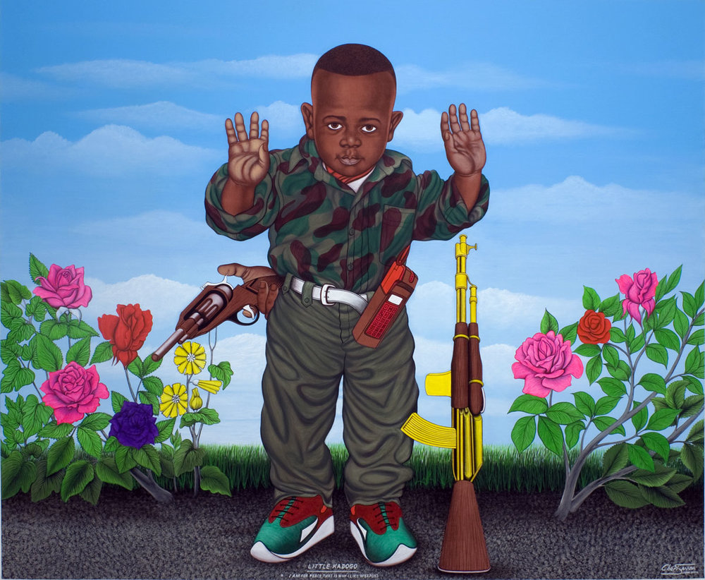 Chéri Samba, Little Kadogo – I am for peace, that is why I like weapons, 2004
