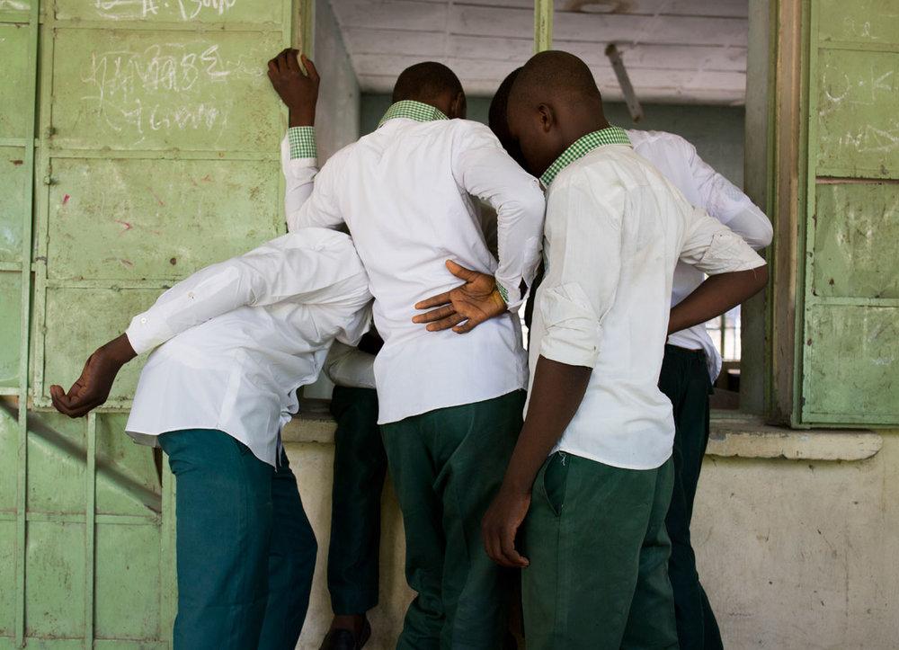 School boys of Shehu Garbai, Maiduguri, Nigeria, 2016