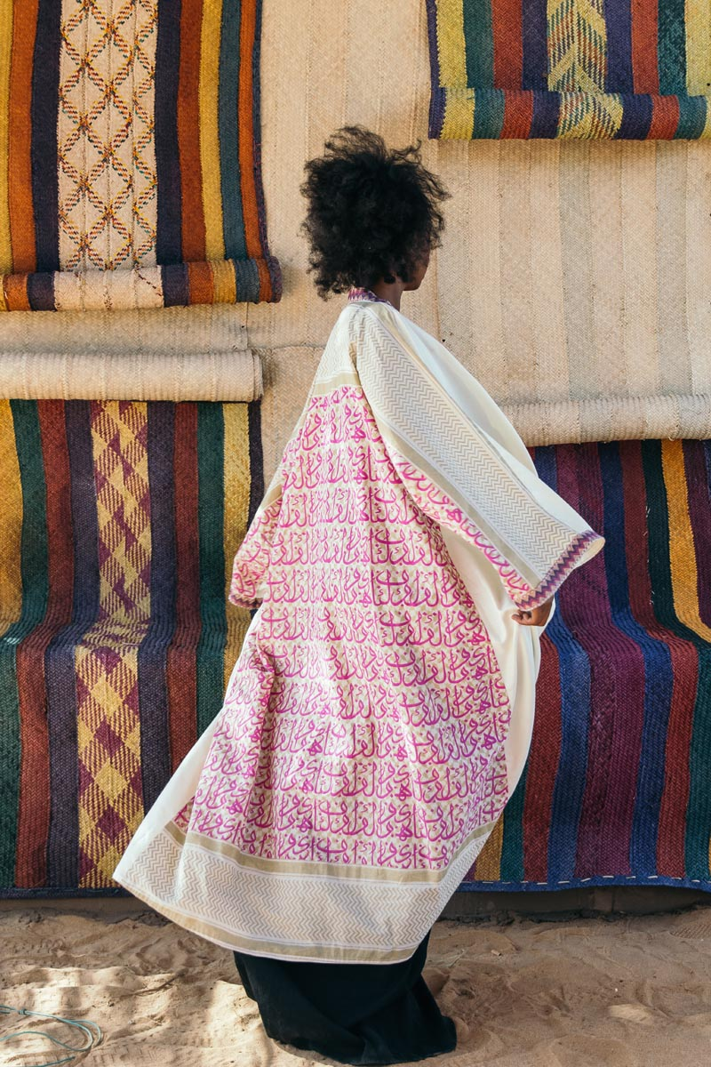 2 of 2 - Izy wears Haute Baso dresss and tunic, Bishtique bisht