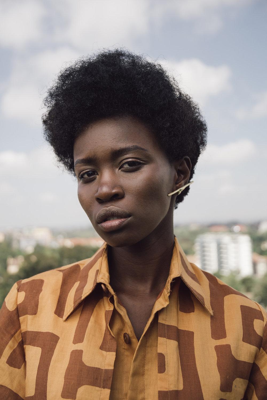 Anita wears Lulu Mutuli dress, Embody earrings