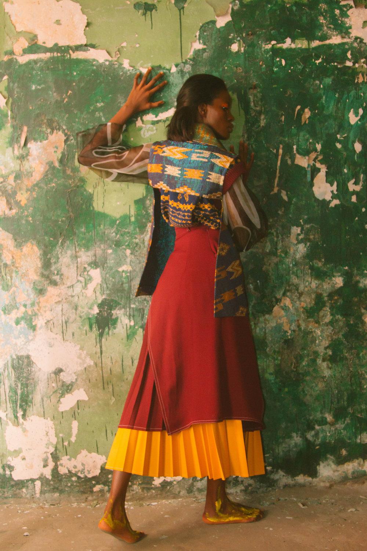 Rich Mnisi shirt, Chulaap nightwear, Sunny Rose jacket, Thebe Magugu skirts