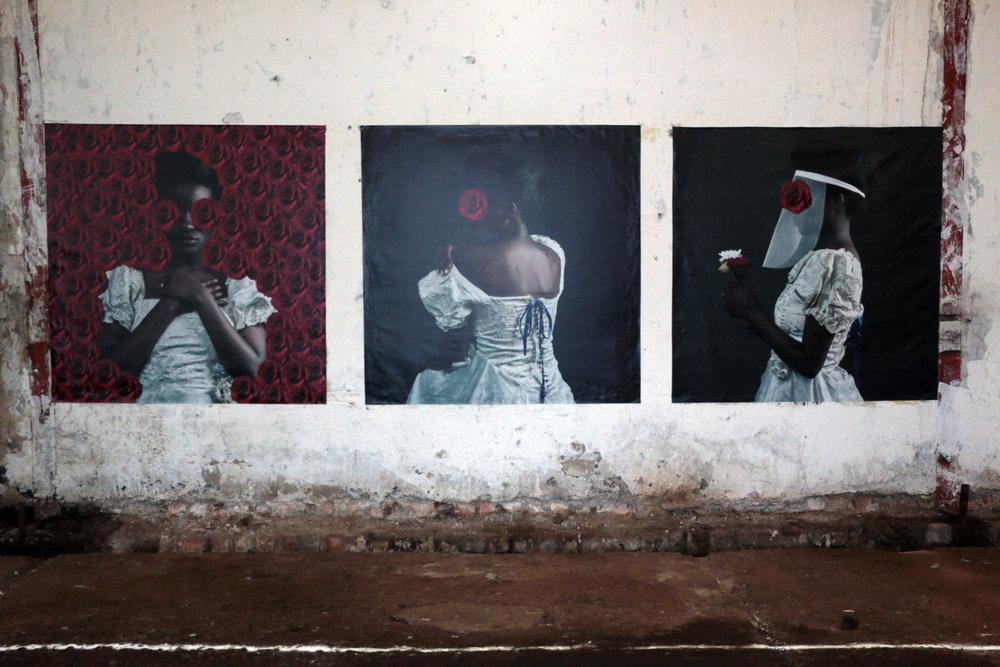 Installation by Noor Okulu (Studio Aida Muluneh) at Kampala Biennale 2018