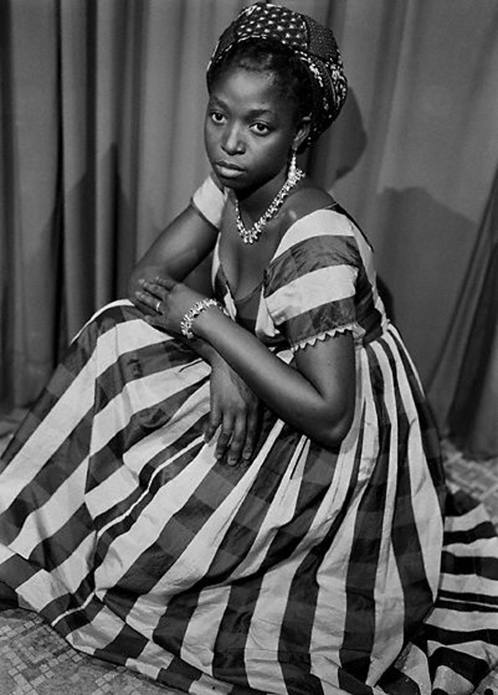 Seydou Keïta, Striped Dress, Mali, 1952