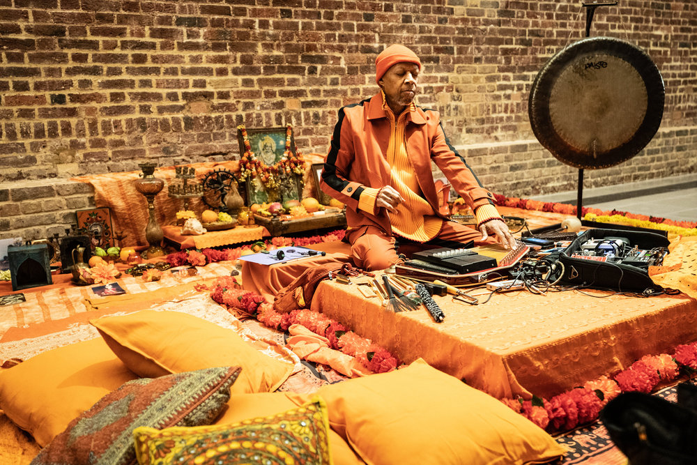 Laraaji, Transformation 2019, Grace Wales Bonner: A Time for New Dreams, 18 January – 16 February 2019, Serpentine Galleries, © 2019 Harry Richards Photography