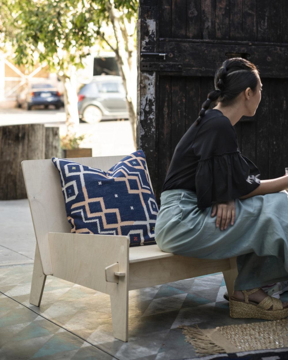 ÖVERALLT easy chair Birch plywood Designer I Diabate and K Gouriou