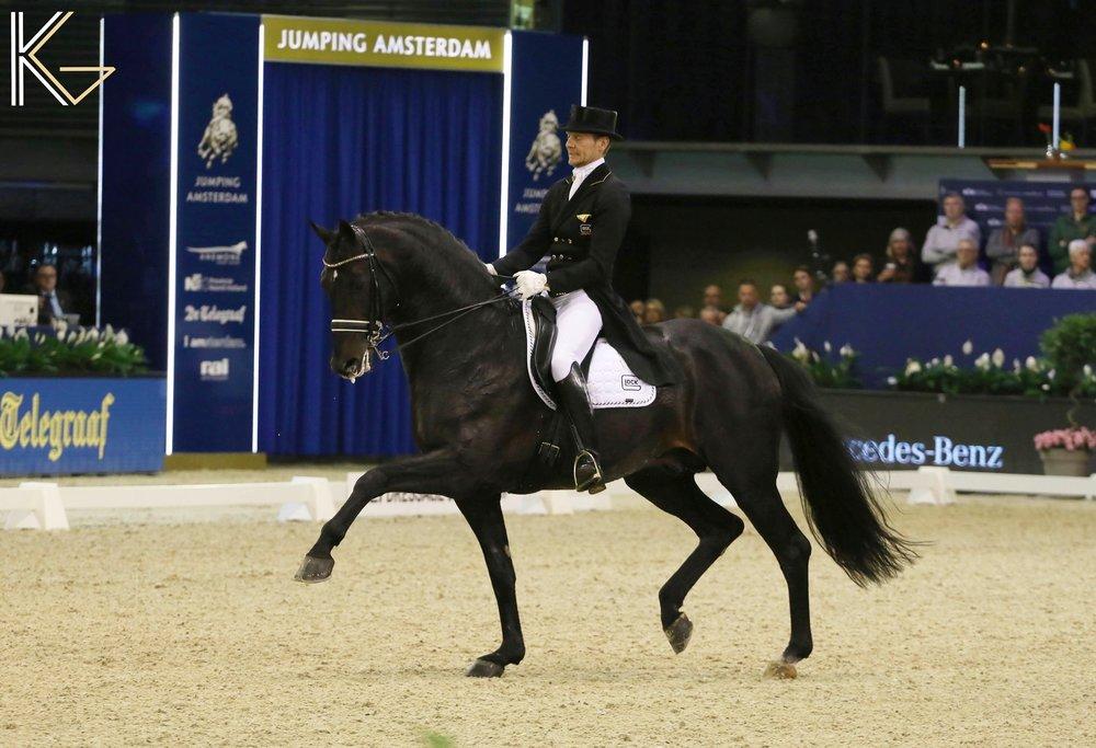 Edward Gal and 10-year-old Danish Warmblood stallion Glock´s Zonik N.O.P. - photo credit: Koen Gomes.
