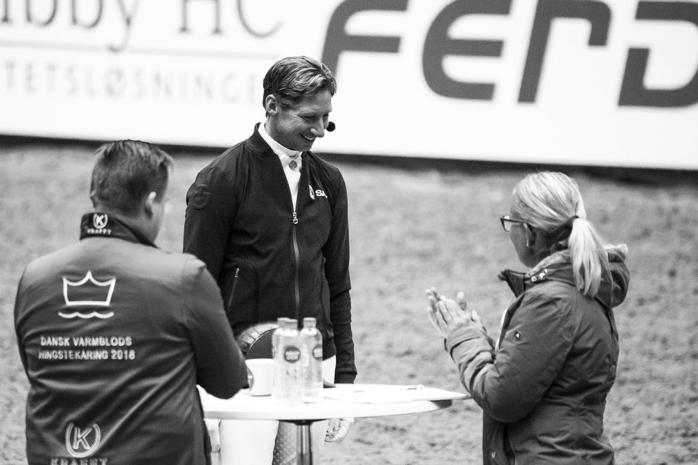 Patrik Kittel in action at Danish Warmblood Young Horse Championship - photo credit: H2R