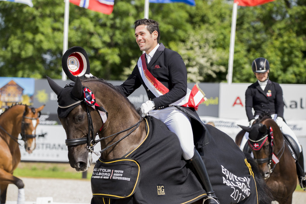 Severo Jurado Lopez and Deep Impact at Equitour Aalborg 2017 - photo credit: H2R
