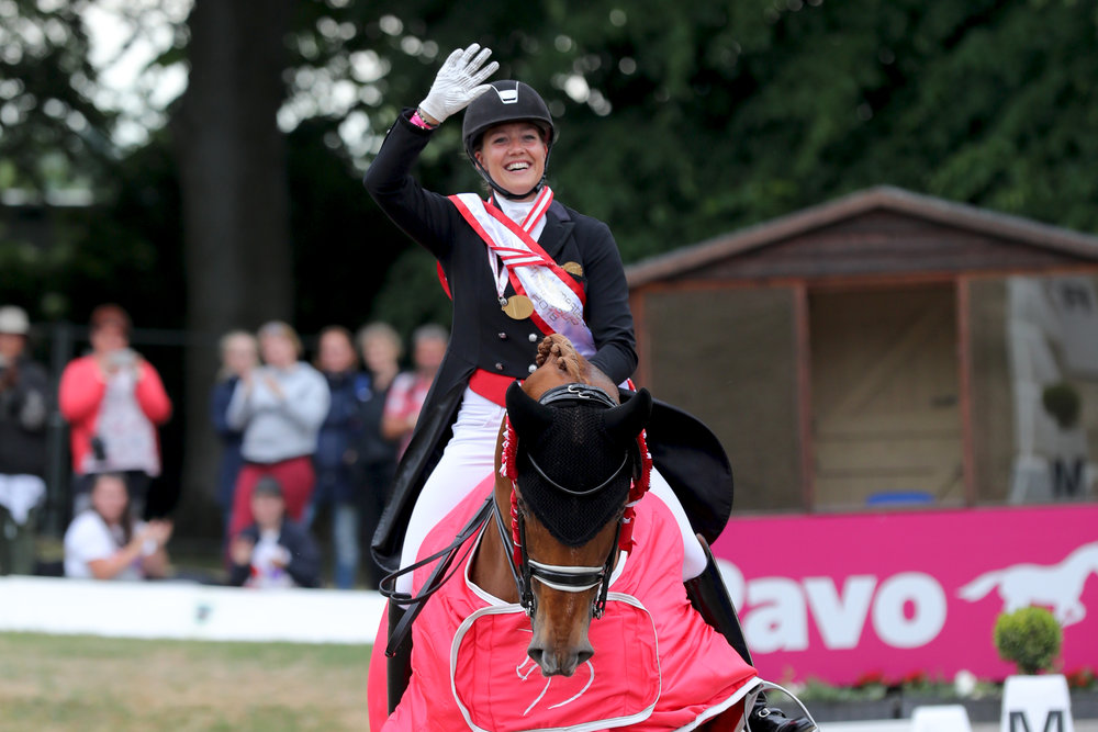 Danmarksmester 2018 Cathrine Dufour med Atterupgaards Cassidy. Photo credit: Thomas Bisgaard