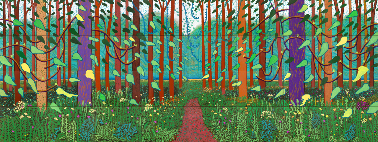 lastbreath7 :     'Arrival of spring' by David Hockney