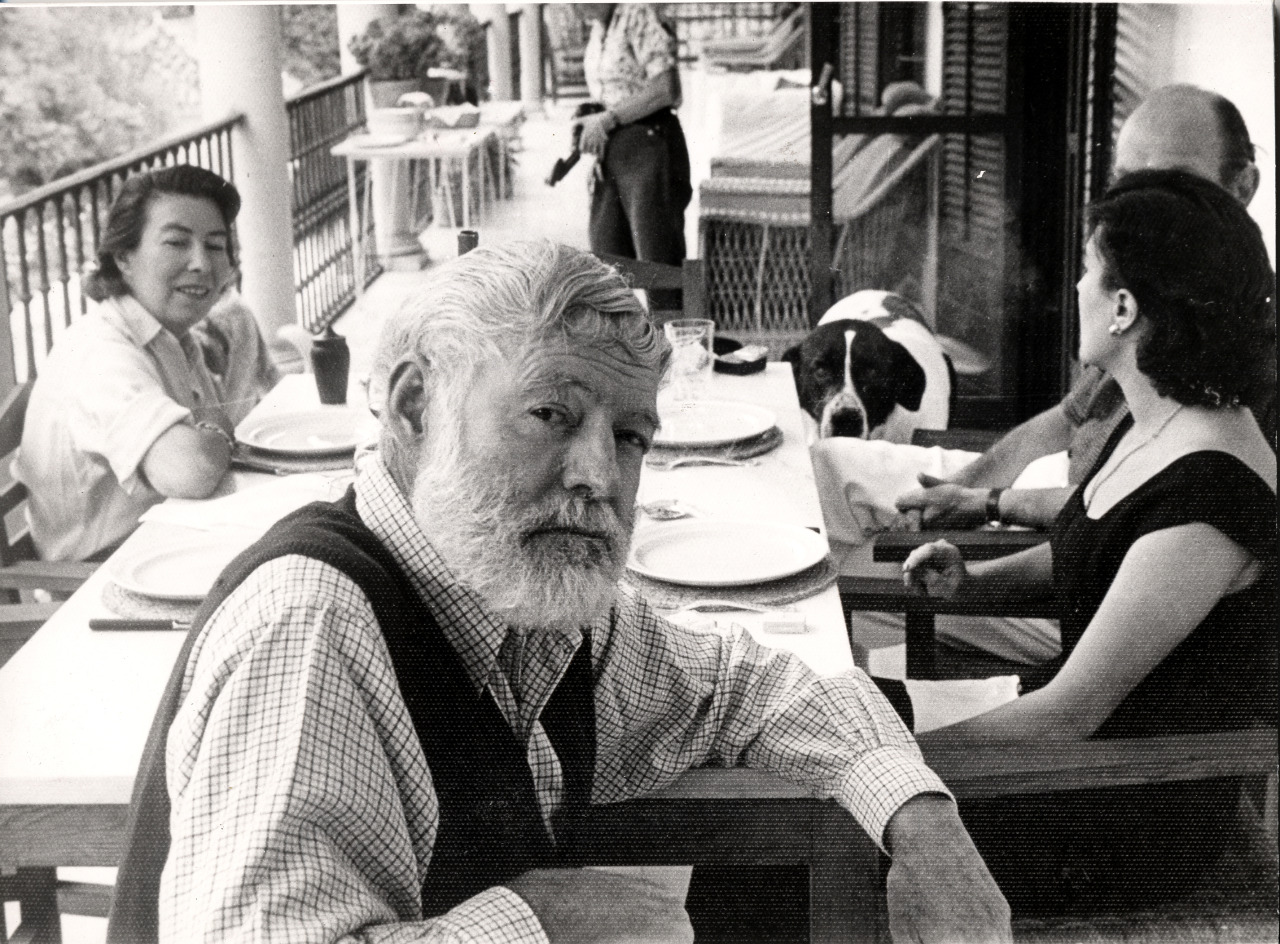 sunshineternal :              Ernest Hemingway  on his sixtieth birthday.