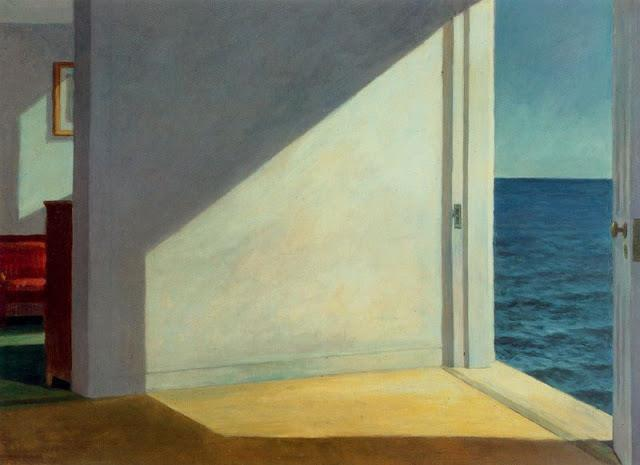 tamburina :           Edward Hopper ,    Rooms By The Sea , 1951