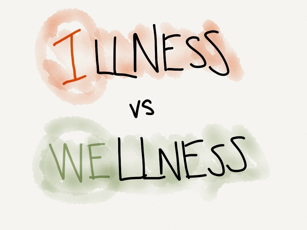 the difference between Illness and Wellness is???
