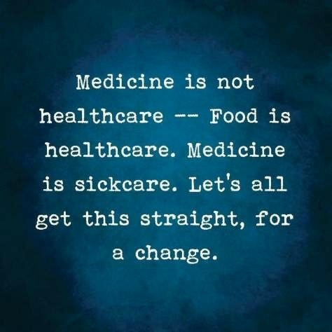 asadair :     Could not agree with this more! Take your health into your own hands…your body possesses an innate knowledge to heal. You are a self healing, self regulating organism!