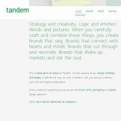 Check out our website copywriting for Tandem's brand, print and digital design studio in Perth.