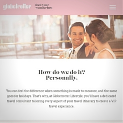 Read our copywriters' work on the Globetrotter Lifestyle website
