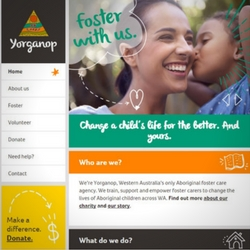 Read the copy our freelance website copywriters wrote for Yorganop, Western Australia's only Aboriginal foster care agency.