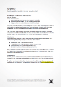 Epigroup bookkeeper recruitment ad copywriting.png