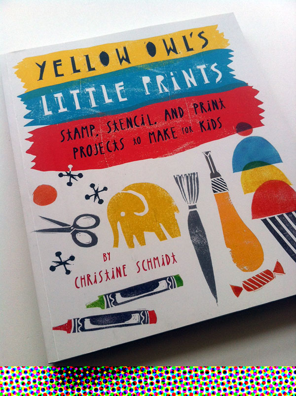 Yellow Owl's Little Prints by Chistine Schmidt