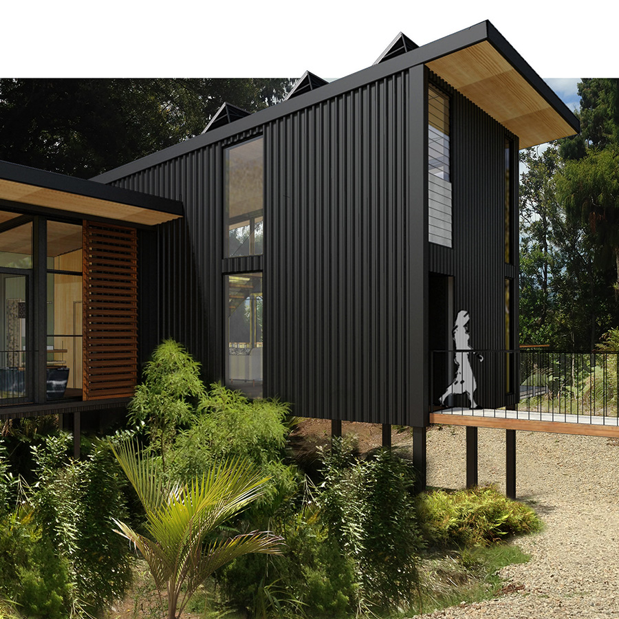 "<h3 style=""color:white"">Kaimai Tree-House</h3> </br> Canopy-height holiday haven"