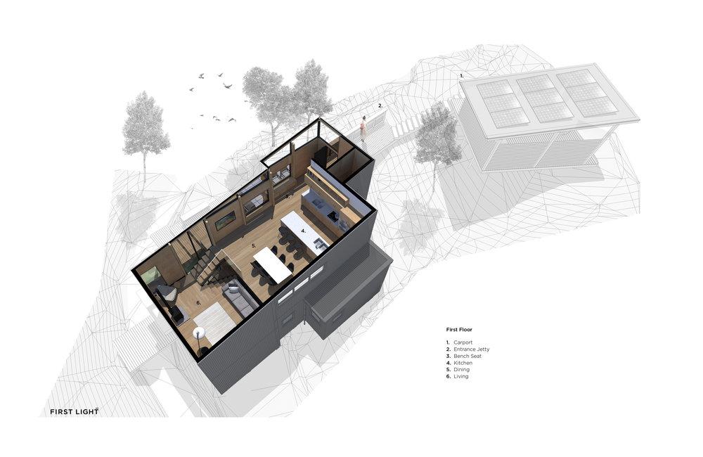 Perspective Plan - First Floor