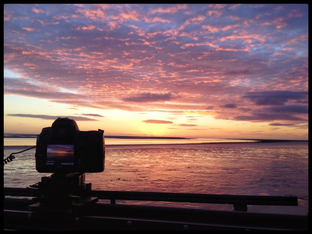 time lapse rig kessler sun set colours nikon d700 iphone iphonography slider estury sea beach colours golden hour