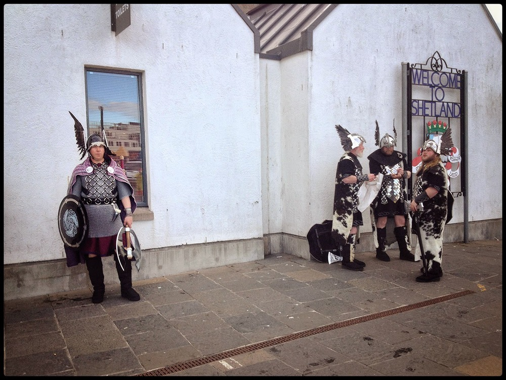 uphelia festival shetland Welcome to Shetland vikings Lerwick Festival of light local inhabitant dress history shield axe sword cow hide wings helmet