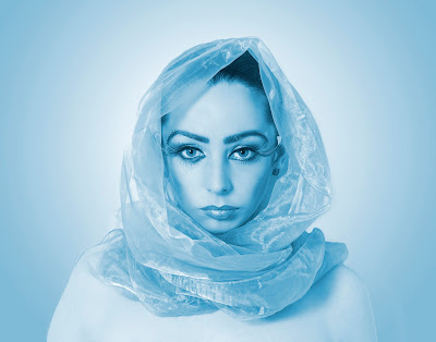 Kelly Ramsden Blue head scarf