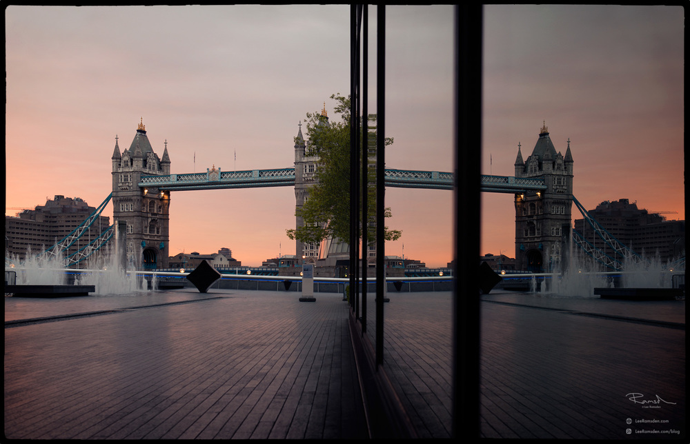 Tower bridge landmark famous world river Thames sunset sunrise moreLondon orange glow Lee Ramsden