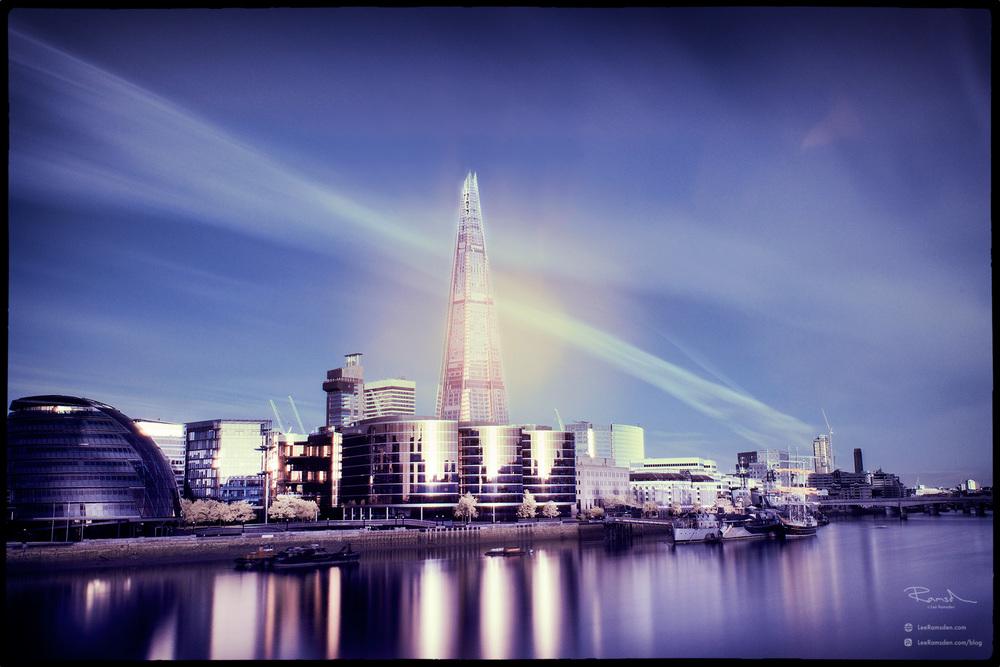 """<img src=""""Infrared.jpg"""" alt=""""London River Thames morelondon Infrared colour processing landscape image IR blocking filter Hoya R72 Lee Ramsden"""">"""