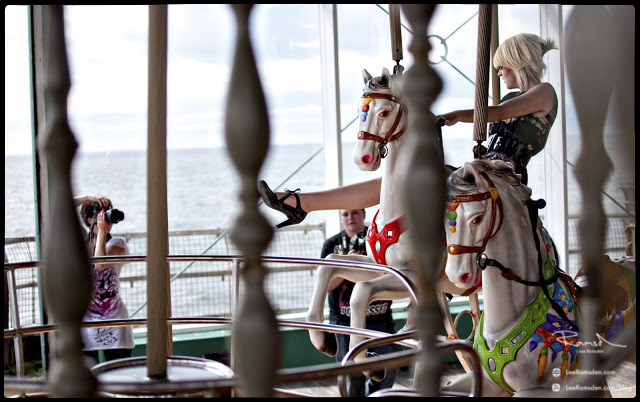 "<img src=""Aimee Spinks at work"" alt=""www.aimeespinks.com Blackpool North pier Horse photoshoot Aimee Spinks photographer Lee Ramsden"">"