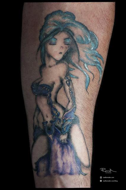 Manga Tattoo Rikki Venstone forearm arm