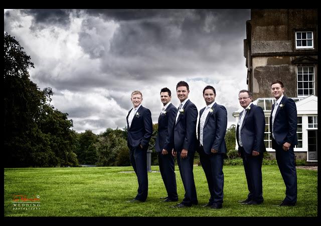 James Gemma Hert wedding male group shot
