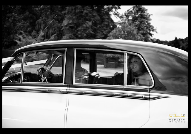 James Gemma Hert wedding wedding car bride