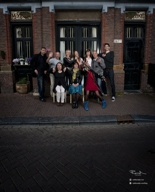 Lee Ramsden family Amsterdam crazy having fun