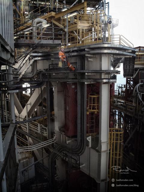 Azerbaijan IRATA industrial rope access Caspian sea abseiling