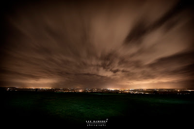 Dunstable downs long exposure night photography clouds