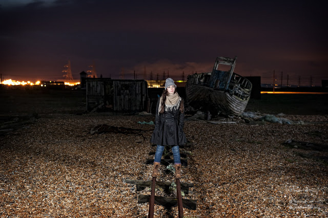 Dungeness off camera flash lighting power station