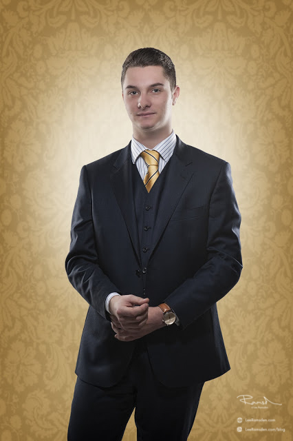 composite how to with Oliver Neville in a suit