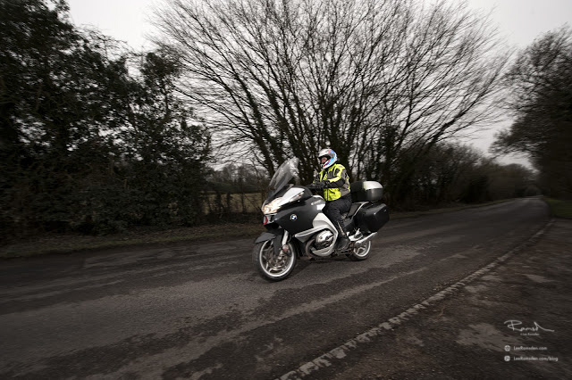 Lee Snowden riding his BMW motorbike A5 Markyate