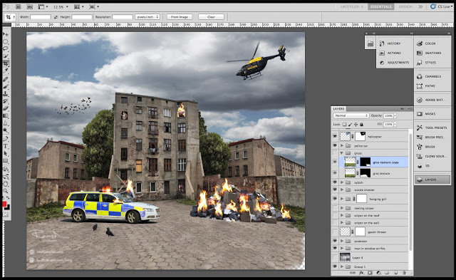 Police Composite photoshop layers
