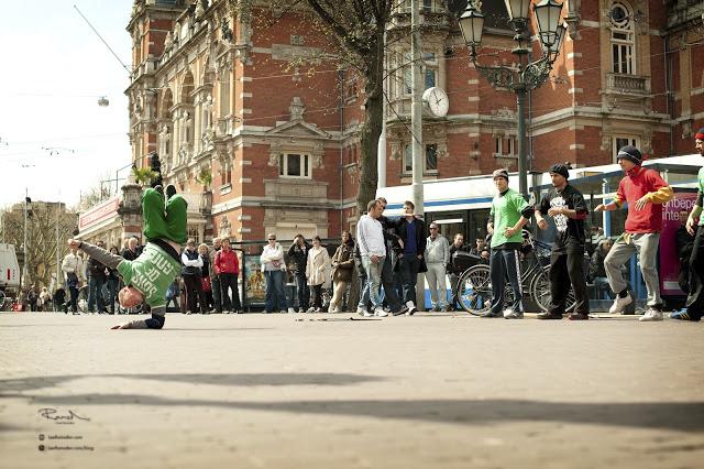 Amsterdam break dancing on the street